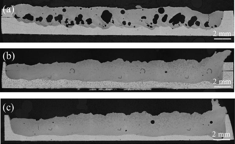溶接接合_遠隔レーザ溶接_実験による長手方向断面のポロシティ分布