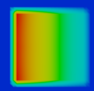 FLOW-3Dの流体による溶接解析_空間形状_矩形