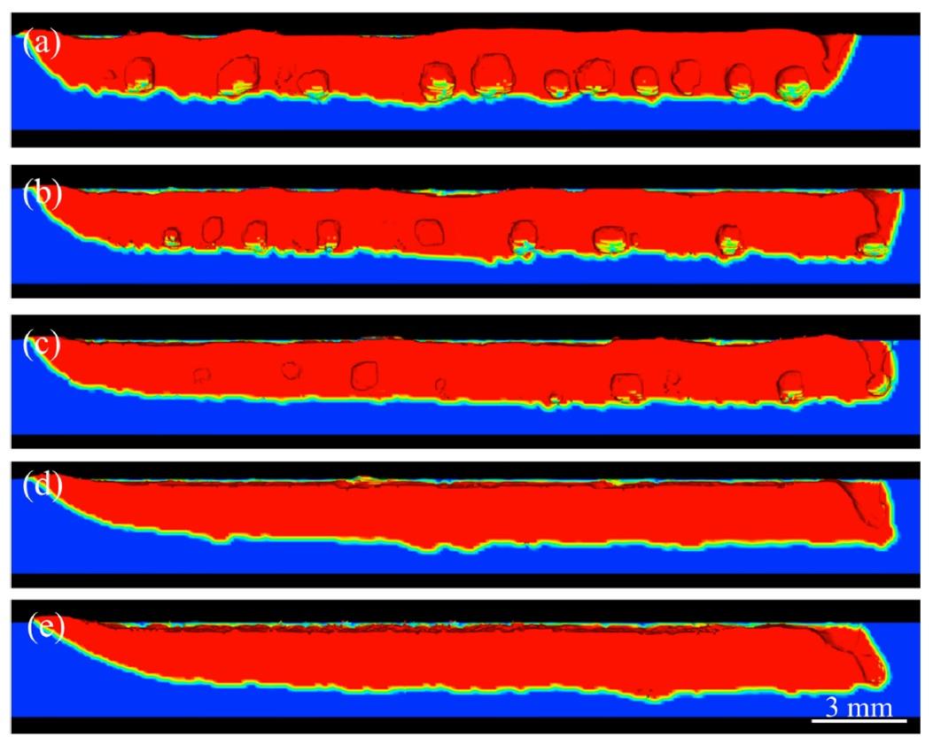 溶接接合_遠隔レーザ溶接_FLOW-3D_WELDによる溶接断面のポロシティ分布
