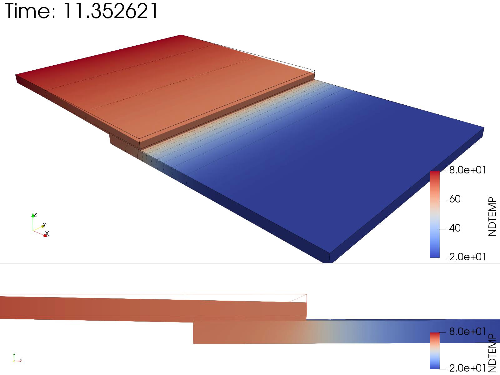 CulculiX_ペナルティ接触モデル(contact pair)_熱伝導解析